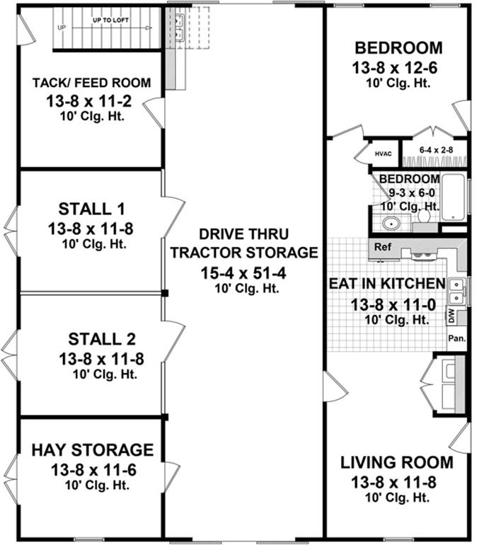 Man level floor layout of plan #141-1300