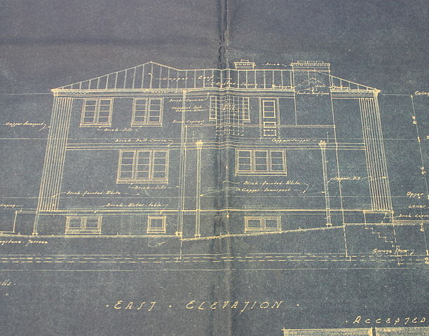 Blueprint of residential home