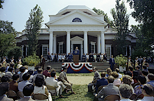 Thomas Jefferson's mansion, Monticello, inspired by Andrea Palladio