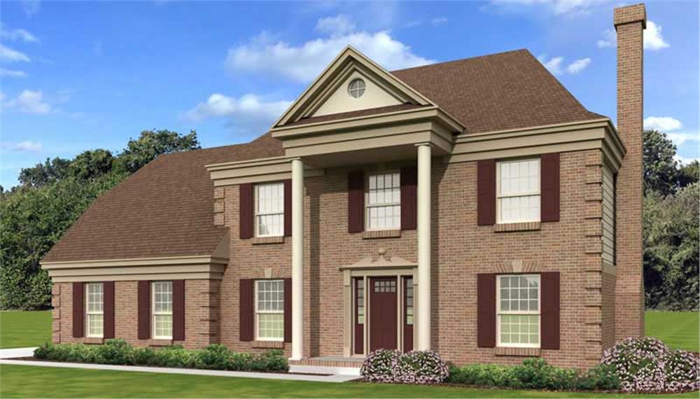 European style House Plan #170-1116