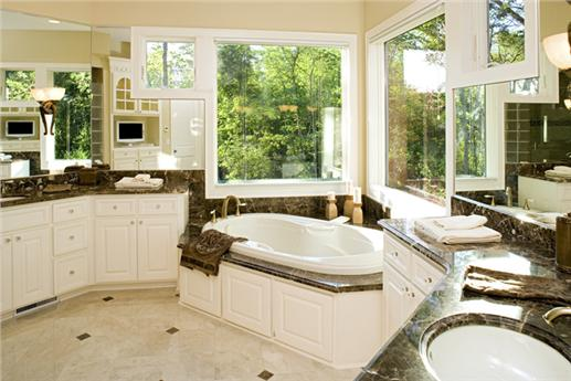Master bathroom suite in The Plan Collection's 165-1077.
