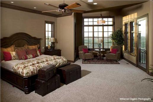 Master bedroom suite with sitting area