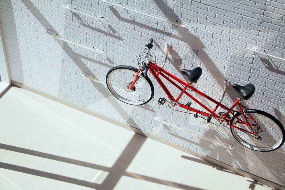 Bike and back rack as interior decor