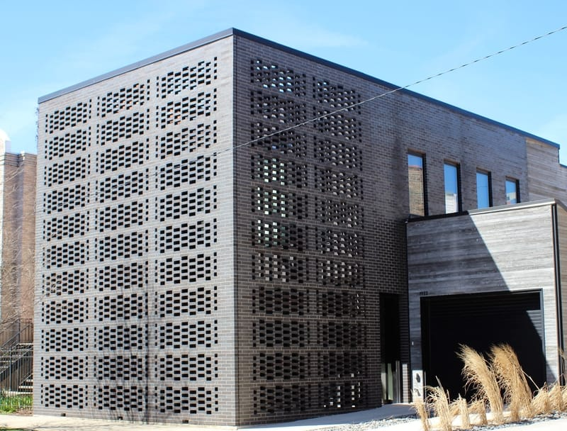 The Brick Weave House by Jeanne Gang and Studio Gang in Chicago, Illinois