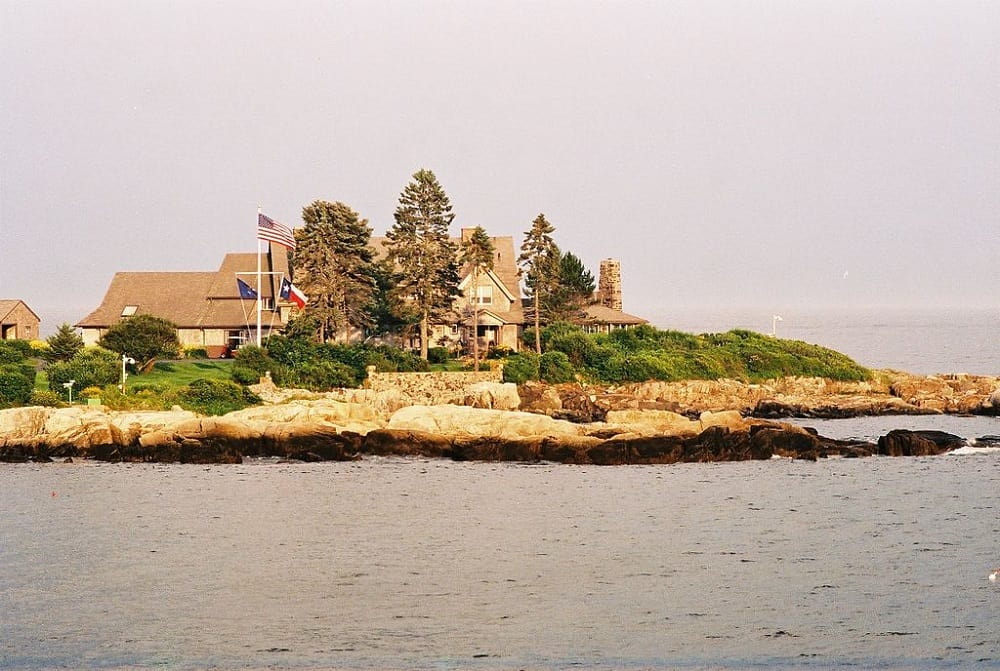 The Bush family compound in Kennebunkport, Maine