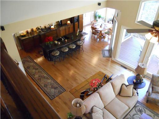 Open floor plan view from balcony.