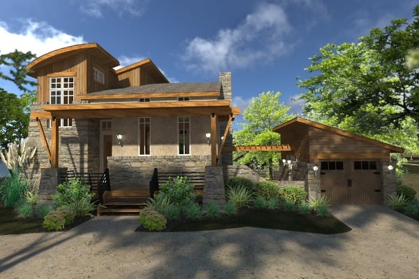 Contemporary cottage with 2 bedrooms