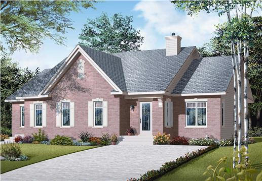 This is a computer rendering of this Country Homeplan.