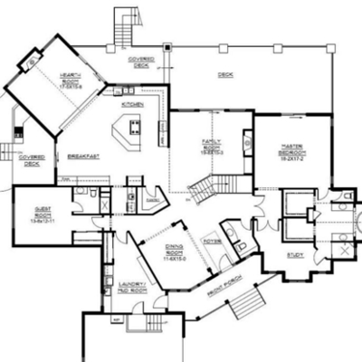 Open concept floor plan ideas the plan collection for Country style homes floor plans