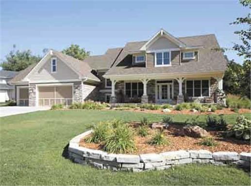 New year new home finding the perfect house plan for Front porch designs for two story houses