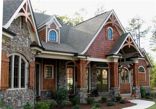 Pacific northwest style adapts architectural designs to for Arts and crafts style home plans