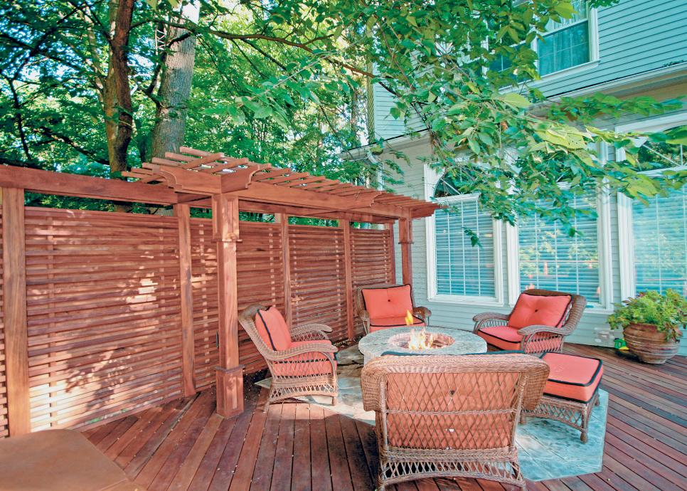 Privacy for a deck is important if you have close neighbors