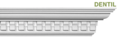 Example of dentil crown molding