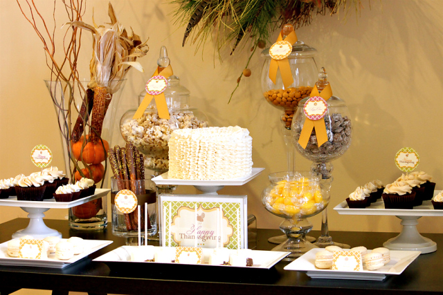 So yummy! Love this dessert table full of delightful sweets.