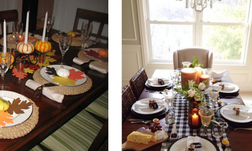 From country casual to formal Colonial - Thanksgiving is a celebration of family and home.