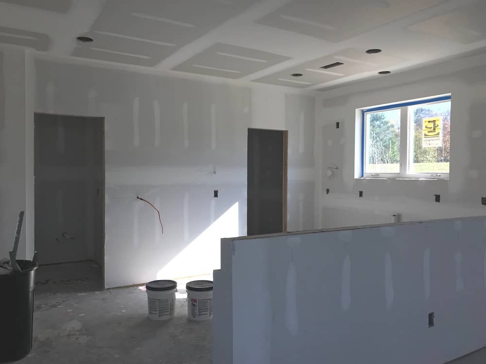 Drywall is all up and looks good (Plan 116-1081)!