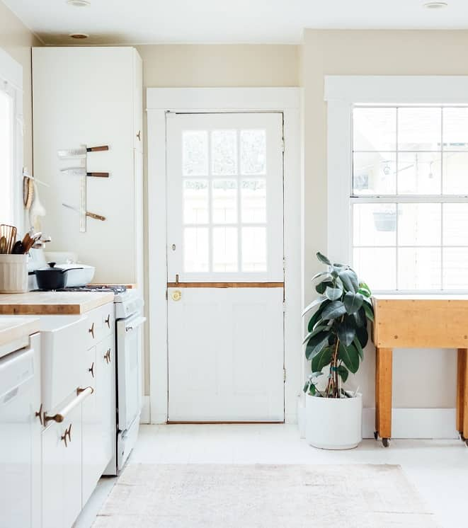 classic kitchen with Dutch door.