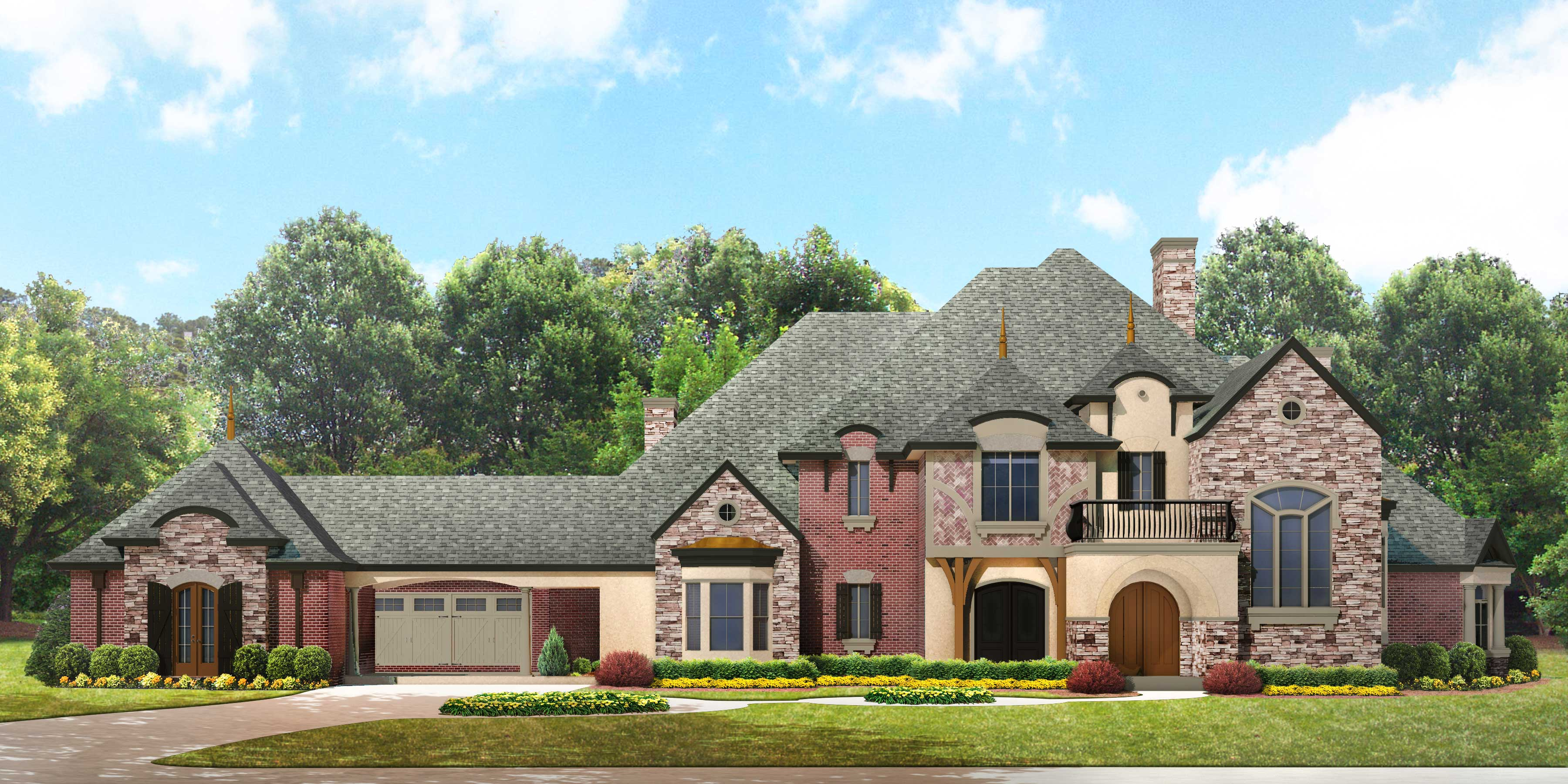 Luxury House Plan Front Elevation