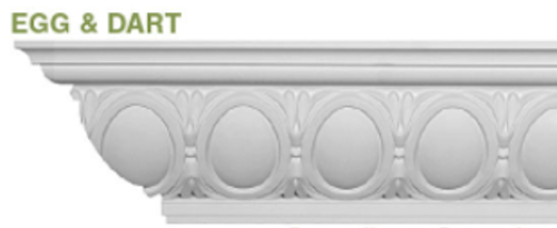 Example of egg-and-dart crown molding