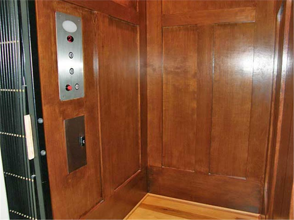 Elevator in this Craftsman home.