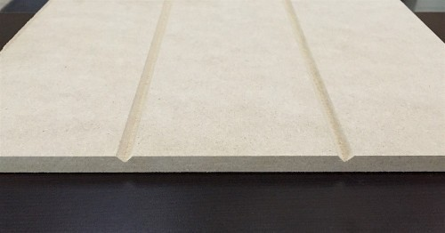 Medium-density fiberboard (MDF) V-groove sheet paneling