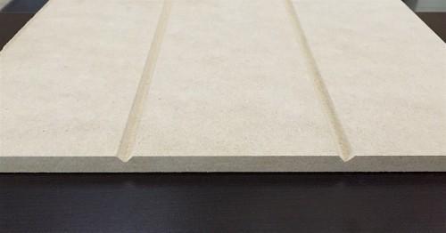 Medium-density fiberboard (MDF) V-groove sheet paneling