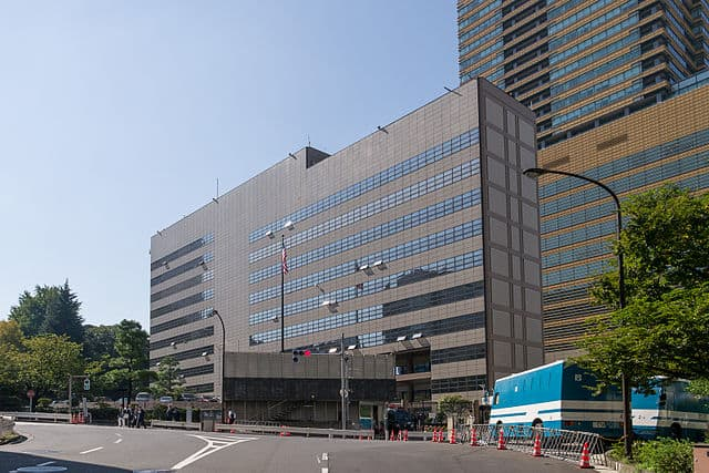The U.S. Embassy to Japan in Tokyo, designed by Norma Merrick Sklarek