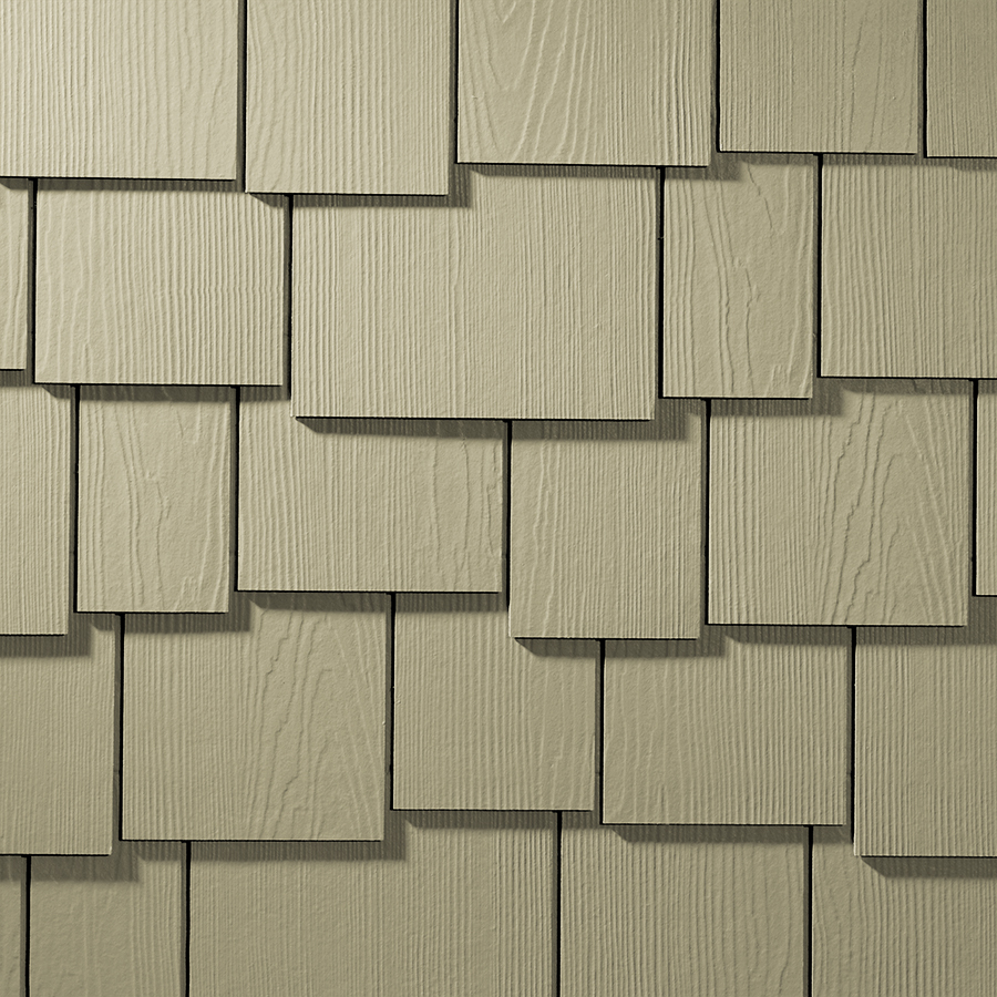 Fiber-cement siding that looks like cedar shakes