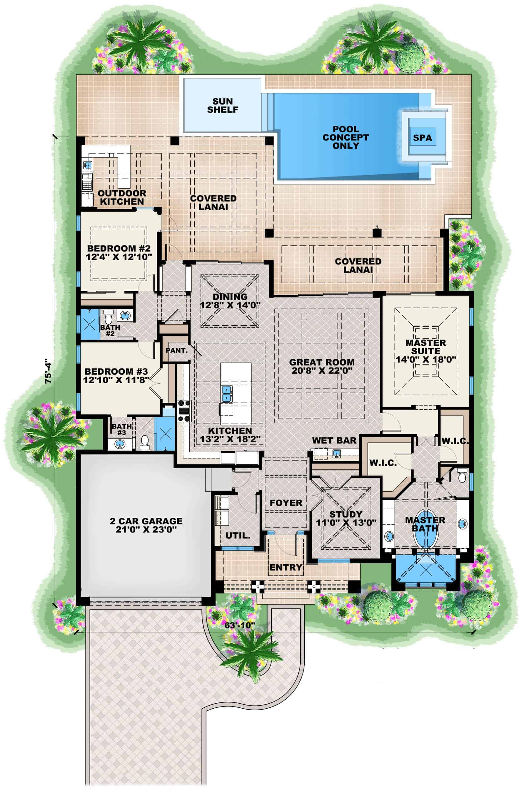 Superb floor plan layout with plenty of outdoor living space perfect for entertaining.