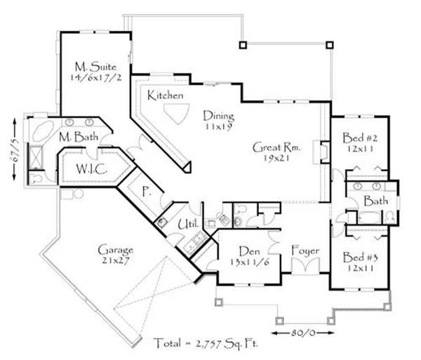 Open Foyer Floor Plan : Prairie style house plan transformed american