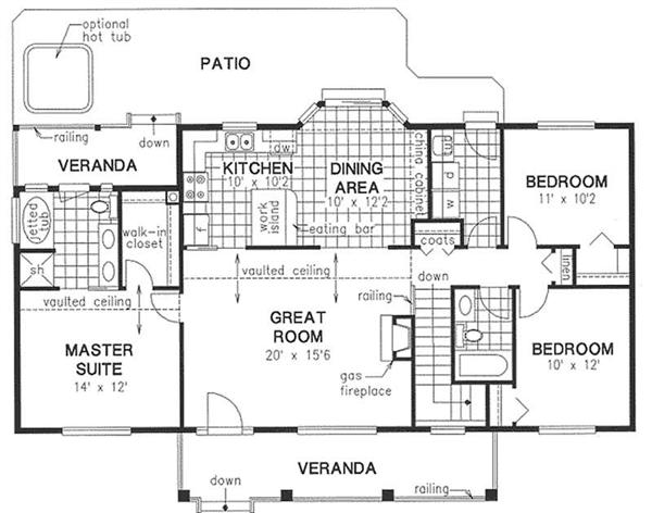 Floor plan for affordable house.