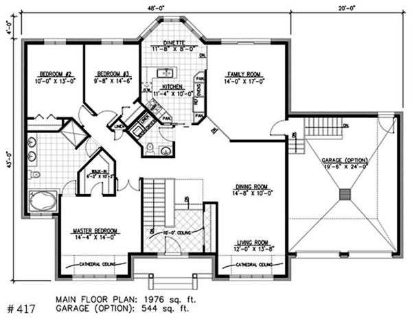 Bungalow Floor Plans bungalow house plan chp 37255 at coolhouseplanscom Floor Plan First Story