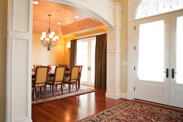 Formal dining room off the foyer.
