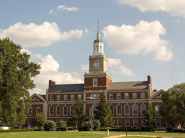 The Founders Library at Howard University, designed by Albert Cassell