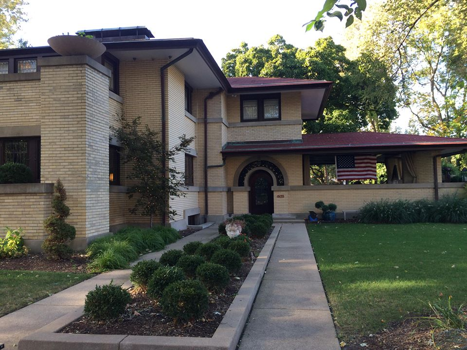 Frank Lloyd Wright's Francis W. Little House in West Bluff, Peoria, Illinois