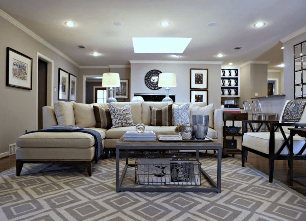 Geometric patterns in home decor