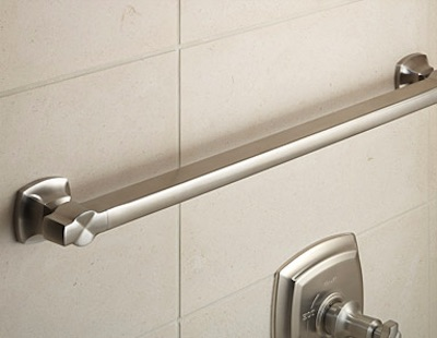 Grab bar that matches bathroom fittings