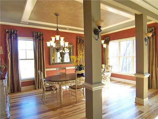 Dining room of this Craftsman style home.