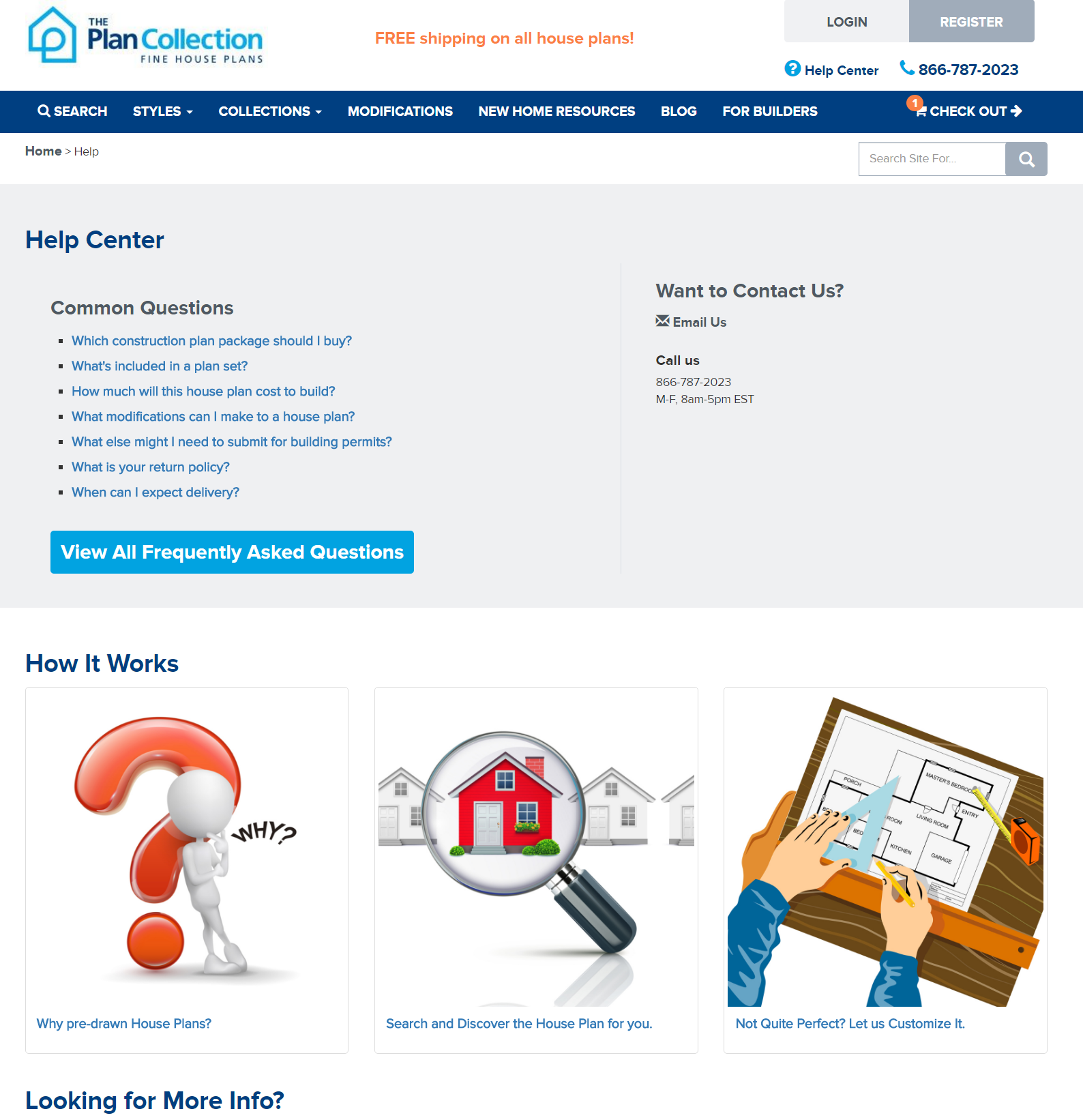 Help Center Page - Find House Plans at The Plan Collection