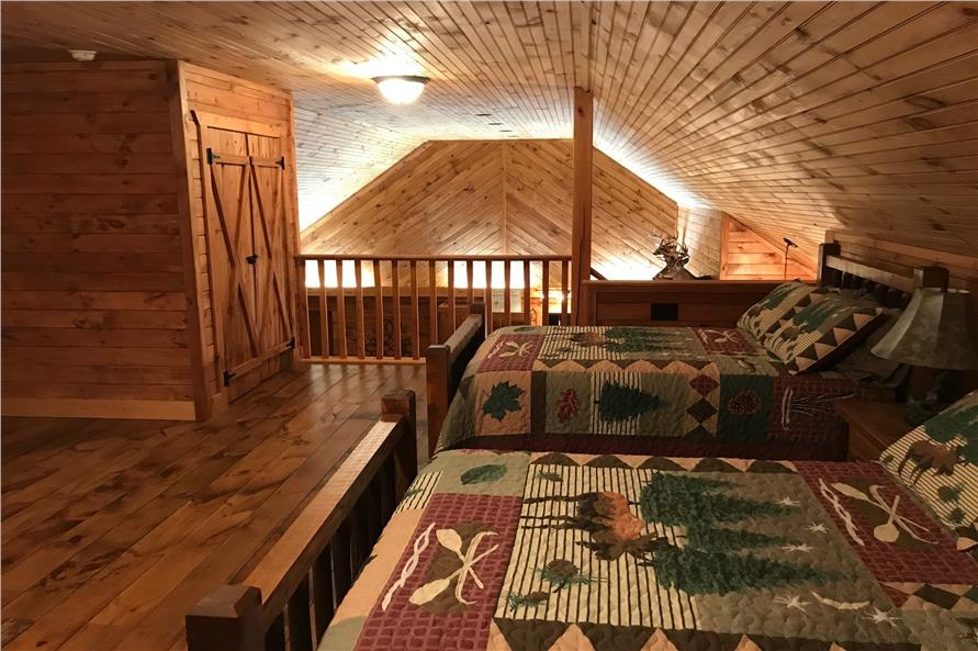 Wonderful open loft space that is used as an extra bedroom in plan #196-1013