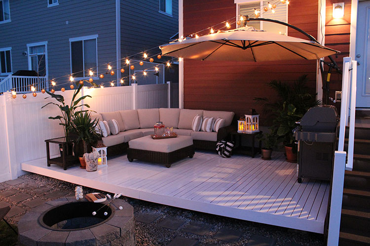 Cozy DIY deck