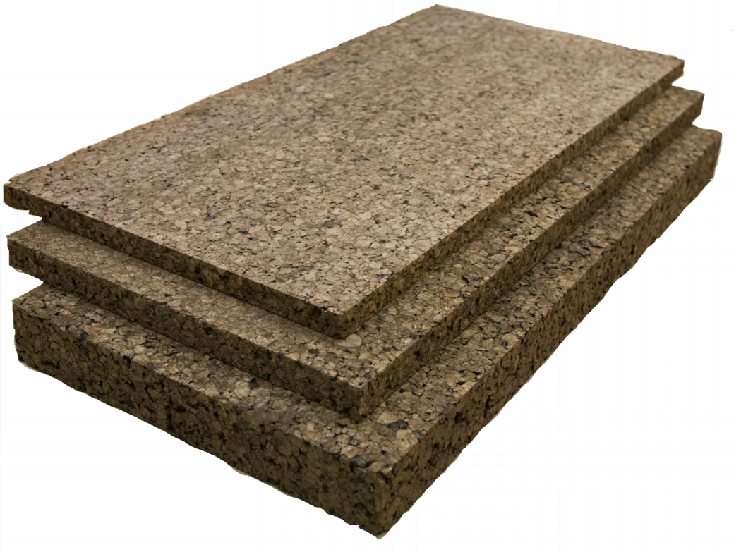 Home insulation made from cork