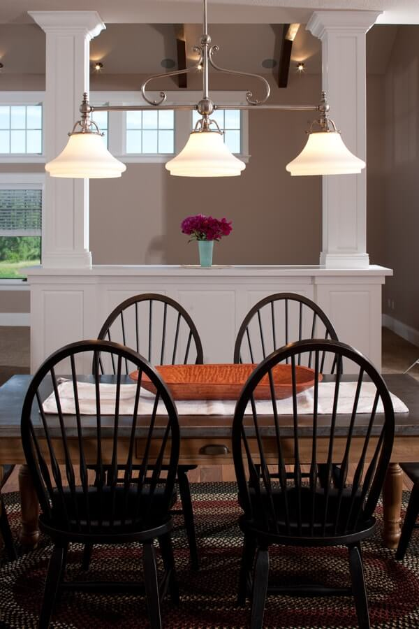 An informal dining area with a traditional look.