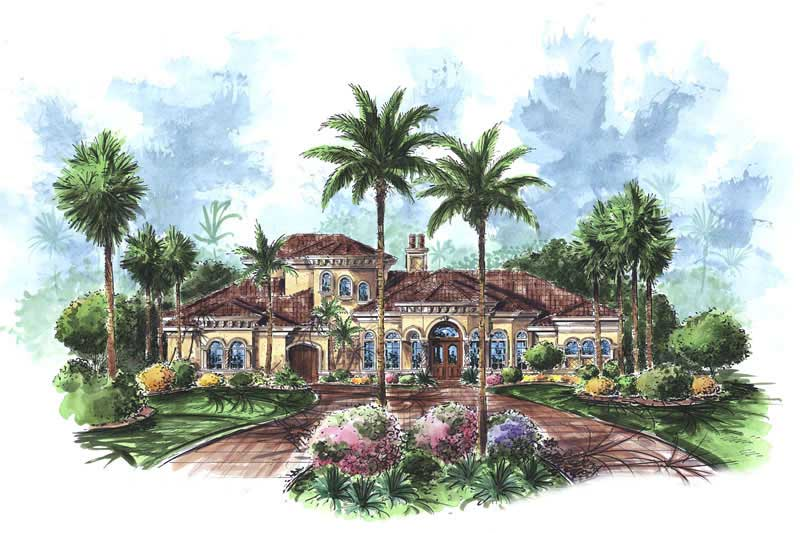 4 bedroom luxury Florida home in Mediterranean architectural style