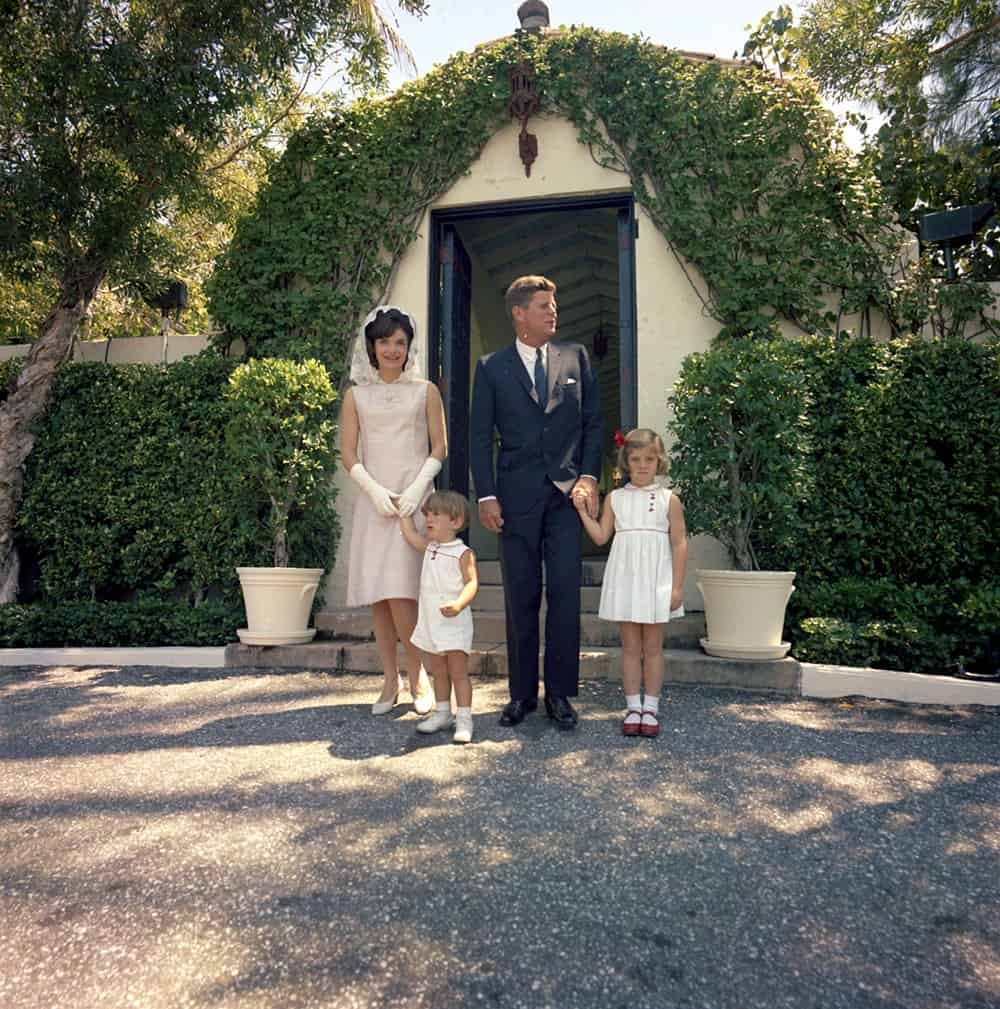 Kennedy Family dressed for Easter 1963 at Palm Beach Compound