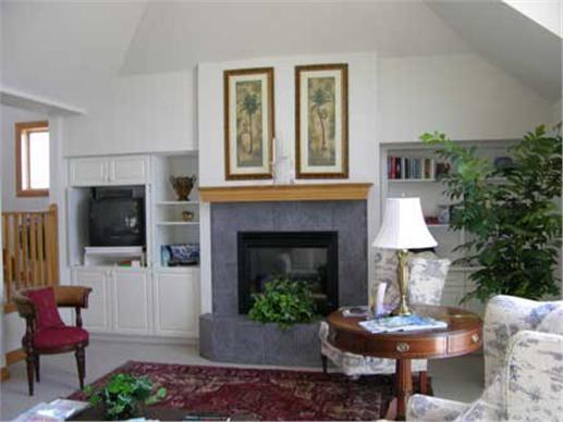 Living room of beachfront home