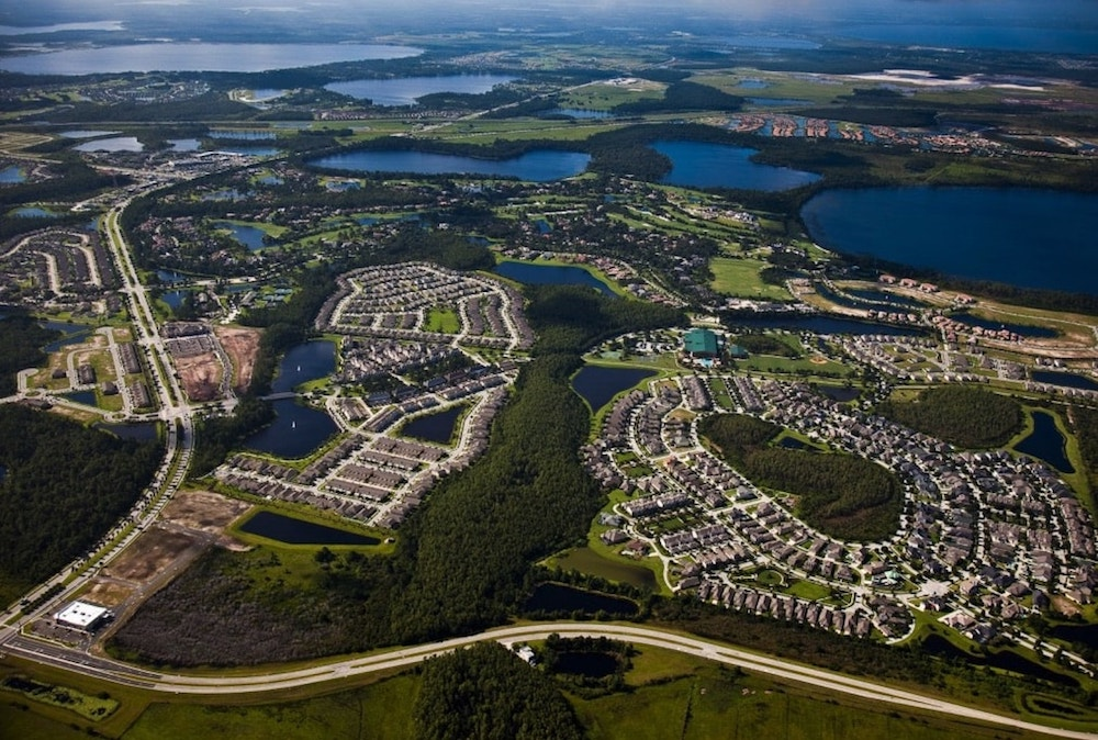Aerial view of Lake Nona, a wellness community in Florida