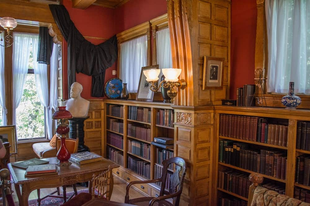 The memorial library at Lawnfield - President Garfield's home