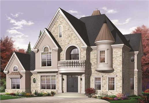 Luxury Victorian house plan.
