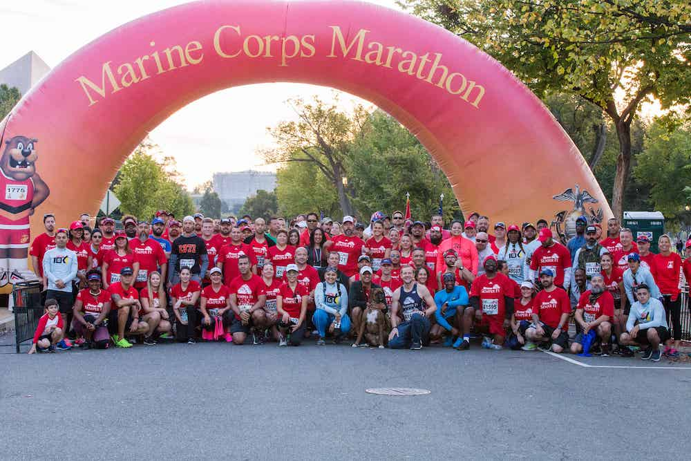 Group photo at the 2018 Marine Corps Marathon